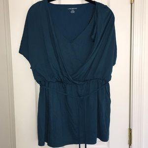 NWT Lane Bryant teal blouse 14/16